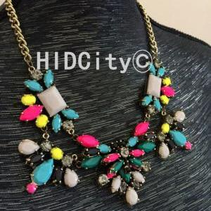Technicolor floral neon statement n..